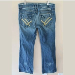 William Rast BILLY Flap Flare Distressed Destroyed